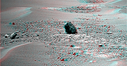 Marquette Island in 3D an Sol 2057