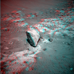 Marquette Island in 3D an Sol 2058
