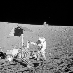 Astronaut Alan Bean bei Surveyor 3
