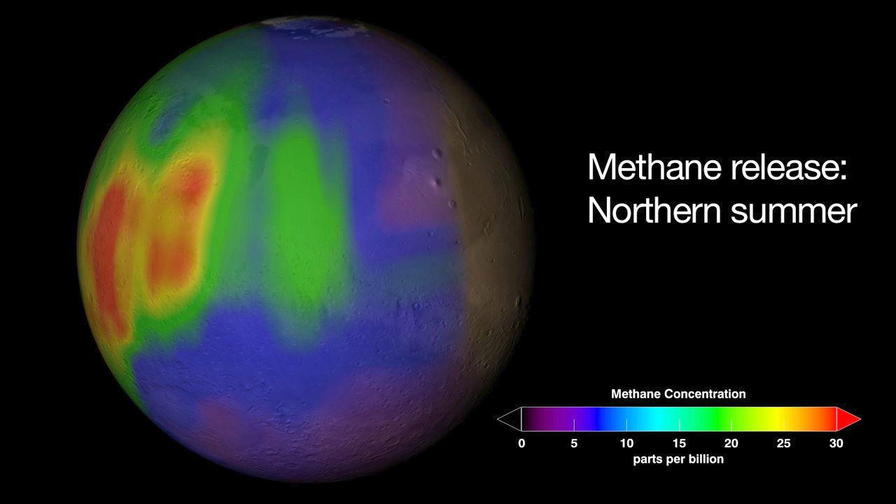 Curiosity détecte très peu de méthane dans l'atmosphère de Mars